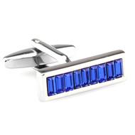 Royal Blue Swarovski® Crystal Baguette Cufflinks (V-CF-C64921BL-S)