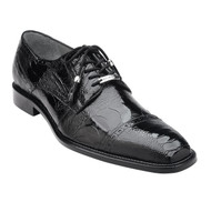 Belvedere Genuine Ostrich Leg Cap-Toe Dress Tie Shoe