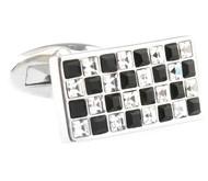 Black & Diamond Swarovski® Crystal Cufflinks (V-CF-C40304BW)