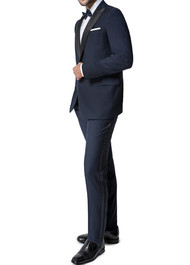 Paul Betenly Peak Lapel with Flat Front Slacks Tuxedo - Classic Fit