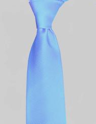 Antonio Ricci Solid Color Tonal Rib Weave Tie - Sky Blue