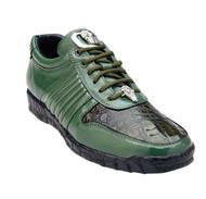 Belvedere Genuine Crocodile and Calf Leather Sneaker