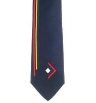 Papillon 100% Printed Silk Tie - Long Line Design on Blue