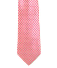 Antonio Ricci 100% Printed Silk Tie - Pink Checkerboard Design