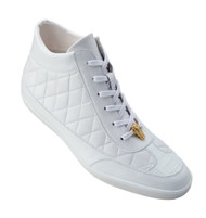Belvedere Genuine Crocodile & Calf Quilted High-Top Sneaker
