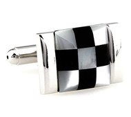 Black Onyx and Mother of Pearl Cufflinks (V-CF-G61996)