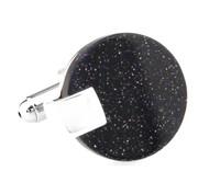 Drusy Quartz Round Disc Cufflinks (V-CF-G62095)
