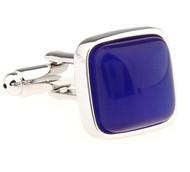 Square Royal Blue Cat's Eye Cufflinks (V-CF-51465LBL-S)