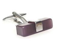 X-Long Purple Cat's Eye Bar Cufflinks (V-CF-56019PR-S)