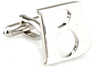 Large Personalized Initial Cufflinks - Letter B - Plus Your Choice (V-CF-M17046S-LT-B)