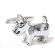 Little Dog Silver Cufflinks (V-CF-M56549)