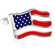 American Flag Cufflinks (V-CF-M60811-S)