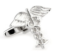 Caduceus Medical Symbol Cufflinks (V-CF-M64799-S)