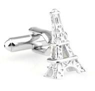Eiffel Tower Silver Cufflinks (V-CF-70424)