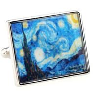 Van Gogh's The Starry Night Painting Cufflinks (V-CF59023)