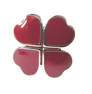 Burgundy Tone Four Leaf Clover Cufflinks (V-CF-52183)