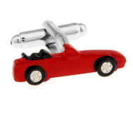 Red Convertible Sport Car Cufflinks (V-CF-7208R)