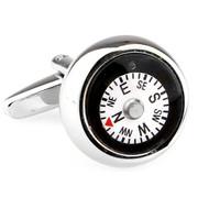 Functioning Compass Cufflinks (V-CF-66176)