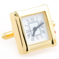 Large Gold Working Watch Cufflinks (V-CF-W52501)