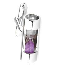 Purple Sand Working Hourglass Cufflinks (V-CF-M466PR)