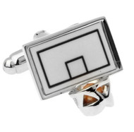 Basketball in Net Cufflinks (V-CF-71161)
