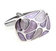 Purple Colored Swirl Enamel Cufflinks (V-CF-5611PR)