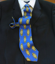 Outlet Center: Antonio Ricci 100% Printed Silk Italian Tie - Royal Emblem Design