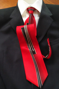 Outlet Center: Fabio Fazio 100% Silk Tie - Red Line Design