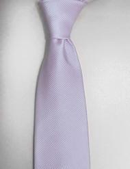 Antonio Ricci Solid Color Tonal Rib Weave Tie - Light Purple
