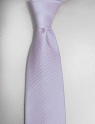 Outlet Center: Antonio Ricci Solid Color Tonal Rib Weave Tie - Light Purple
