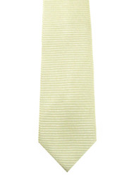 Outlet Center: Antonio Ricci 100% Silk Woven Tie - Light Yellow Horizontal Weave