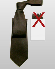 Outlet Center: Antonio Ricci 100% Silk Tie - Dark Brown