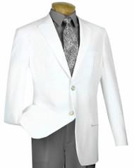Lucci 2-Button White Blazer