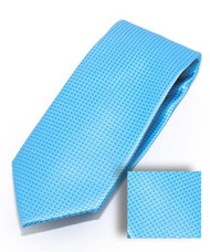 Antonia 100% Woven X-Long Silk Necktie with Pocket Square - Sky Blue