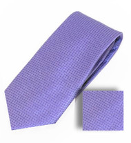 Antonia 100% Woven X-Long Silk Necktie with Pocket Square - Lavender