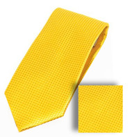 Antonia 100% Woven X-Long Silk Necktie with Pocket Square - Bright Yellow