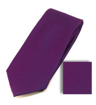 Antonia 100% Woven X-Long Silk Necktie with Pocket Square - Plum