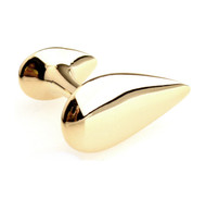 Gold Tear Drop Cufflinks (V-CF-M415-G)