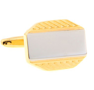 Silver Panel Gold Cufflinks (V-CF-M70945-G)