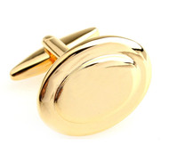 Gold Oval Cufflinks (V-CF-55913-G)