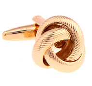Large Love Knot Rose Gold Cufflinks (V-CF-6280RG)