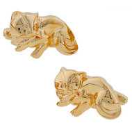 Gold Cat Cufflinks (V-CF-90198)