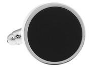 Round Black Onyx Cufflinks (V-CF-56005)