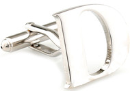 Large Personalized Initial Cufflinks - Letter D - Plus Your Choice (V-CF-M17046S-LT-D)