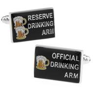 Drinking Arm Beer Cufflinks (V-CF-71044)