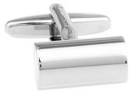 Silver Cylinder Cufflinks (V-CF-55889)