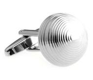 Silver Dome Cufflinks (V-CF-M64665S)