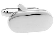 Silver Oval Cufflinks (V-CF56154)