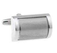 Two-Tone Silver Arch Cufflinks (V-CF-M63819)