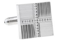 Square Panel Silver Cufflinks (V-CF-63745)